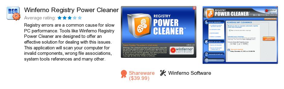 Winferno Registry Power Cleaner