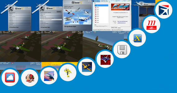 Software collection for Flight Simulator Game Boeing 777