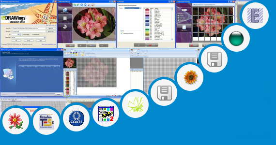 Software collection for Welcome 9 Embroidery Software