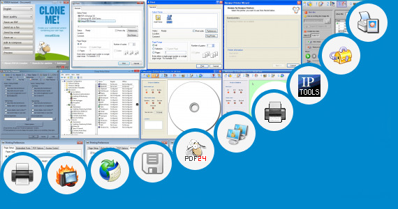 Software collection for Printer Service Tool V 1074