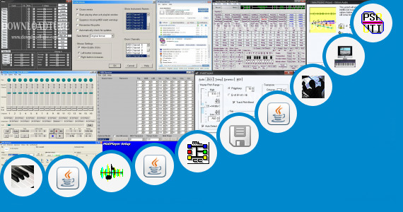 Software collection for Yamaha Midi Sequencer Software
