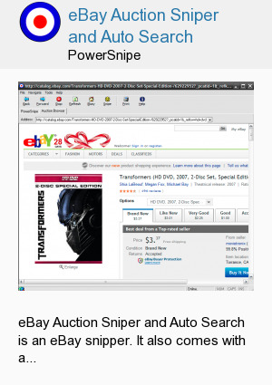 eBay Auction Sniper and Auto Search