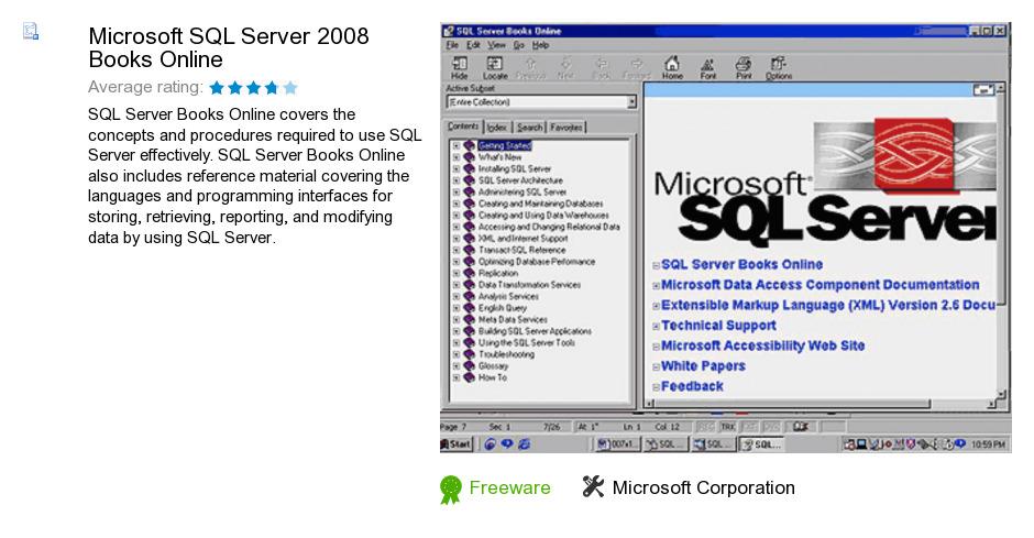 Microsoft SQL Server 2008 Books Online