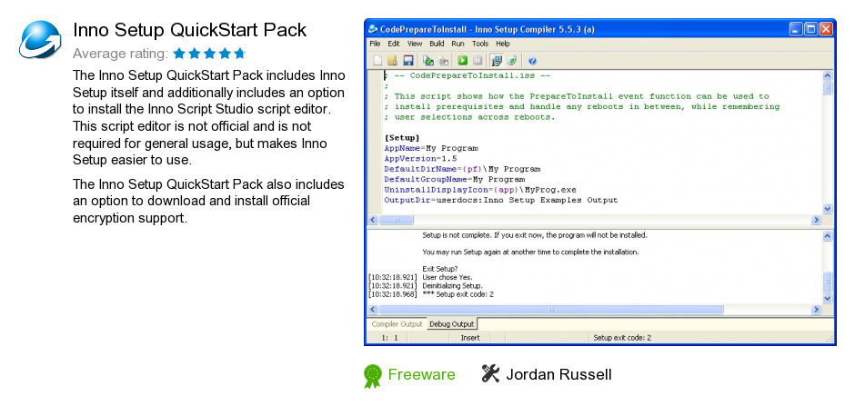 Inno Setup QuickStart Pack