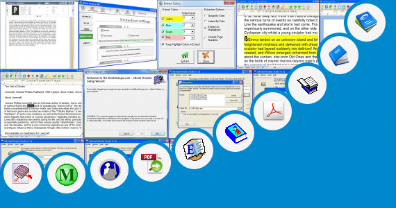 Software collection for Digi Book Ebook Reader