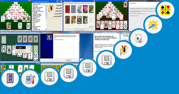 Software collection for Microsoft Solitaire Ink