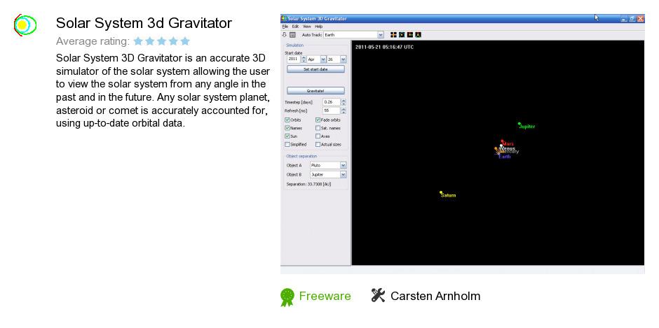Solar System 3d Gravitator