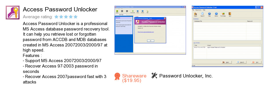 Access Password Unlocker