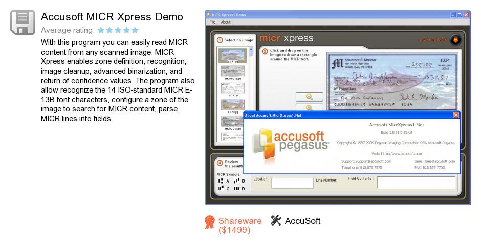 Accusoft MICR Xpress Demo