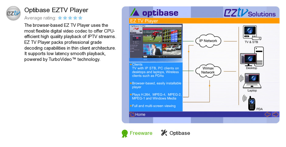 Optibase EZTV Player