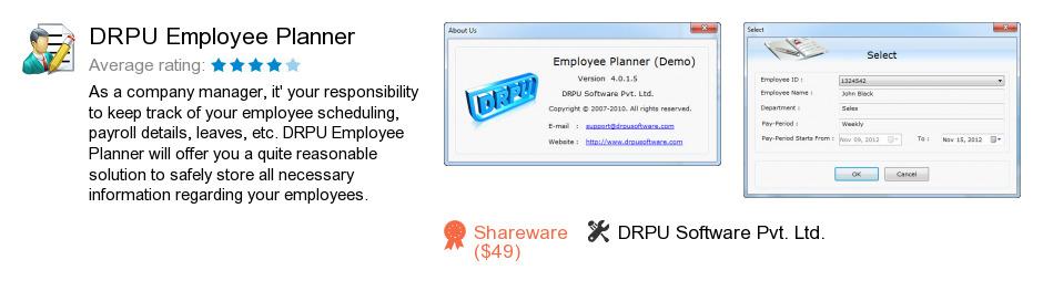 DRPU Employee Planner