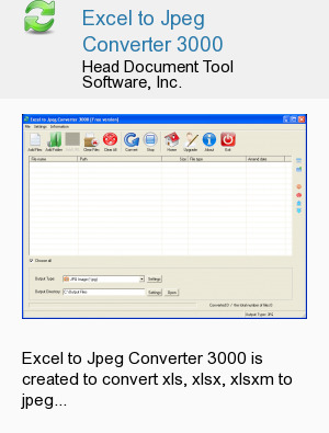 Excel to Jpeg Converter 3000