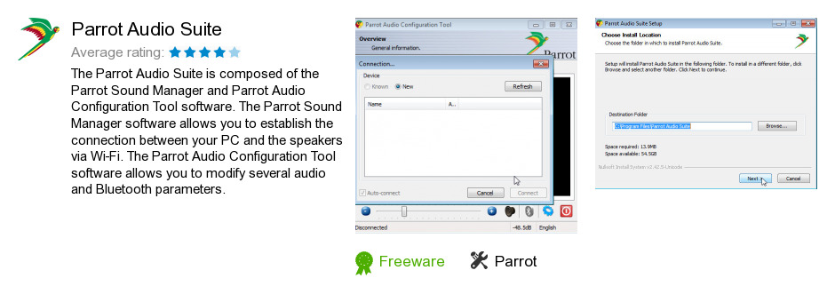 Parrot Audio Suite