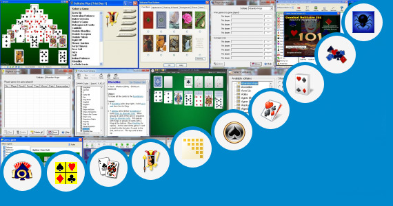 Software collection for Spider Solitaire Ink