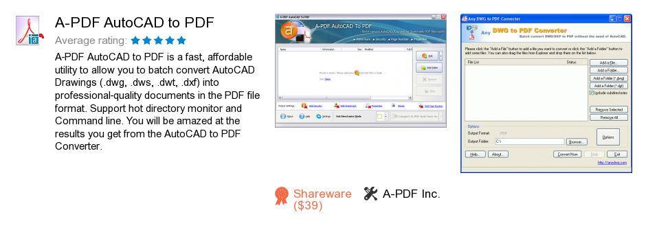 A-PDF AutoCAD to PDF