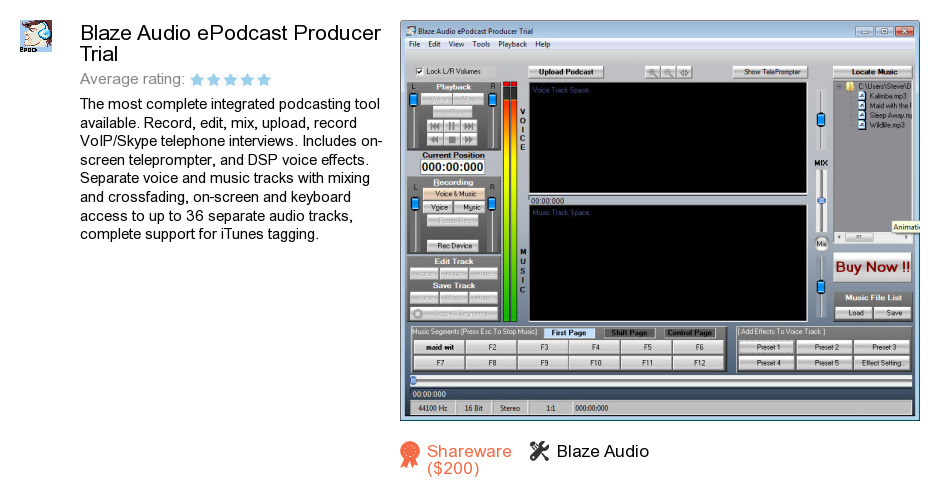 Blaze Audio ePodcast Producer Trial
