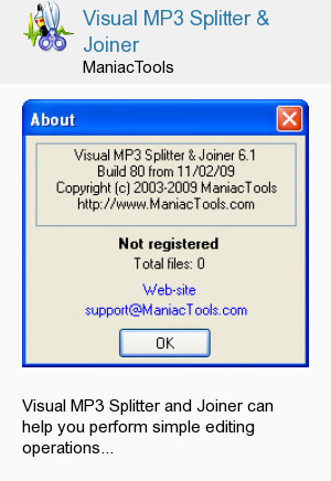 Visual MP3 Splitter & Joiner