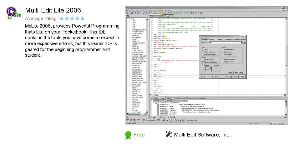 Multi-Edit Lite 2006