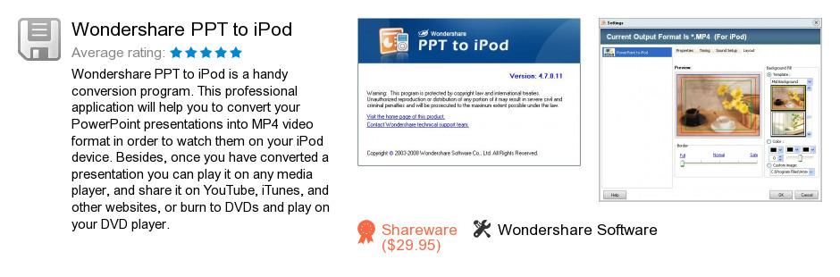 Wondershare PPT to iPod