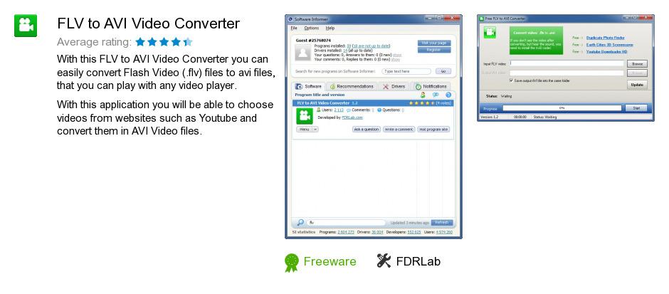 FLV to AVI Video Converter