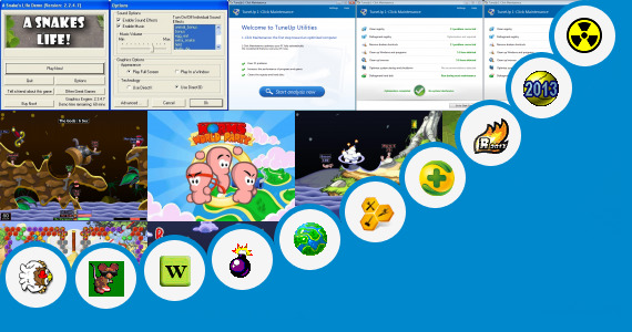 Software collection for Game Worms 2013