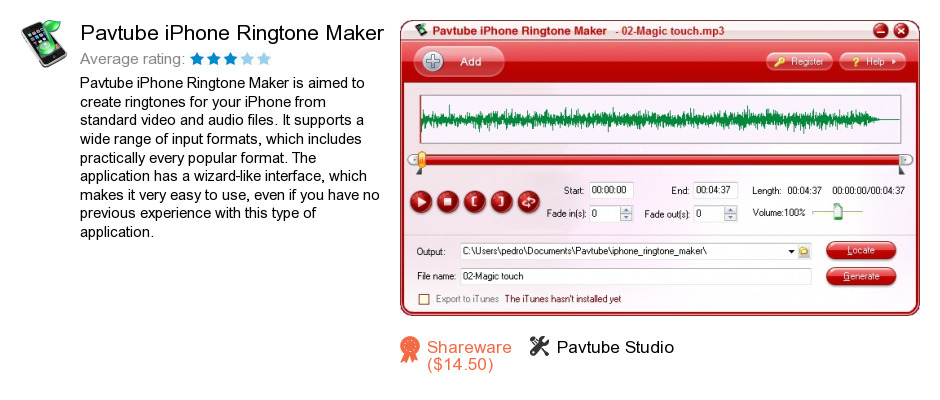 Pavtube iPhone Ringtone Maker