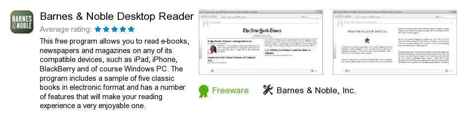 Barnes & Noble Desktop Reader