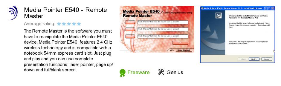 Media Pointer E540 - Remote Master