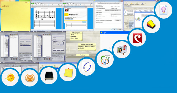 Software collection for Short Note Application Software