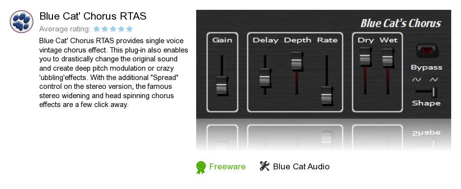 Blue Cat's Chorus RTAS