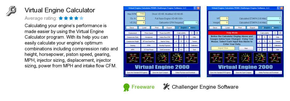 Virtual Engine Calculator