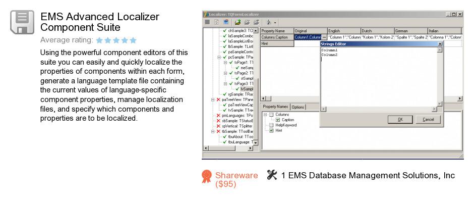 EMS Advanced Localizer Component Suite