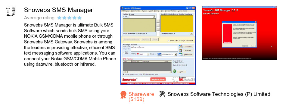 Snowebs SMS Manager