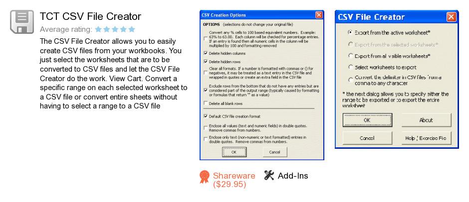 TCT CSV File Creator