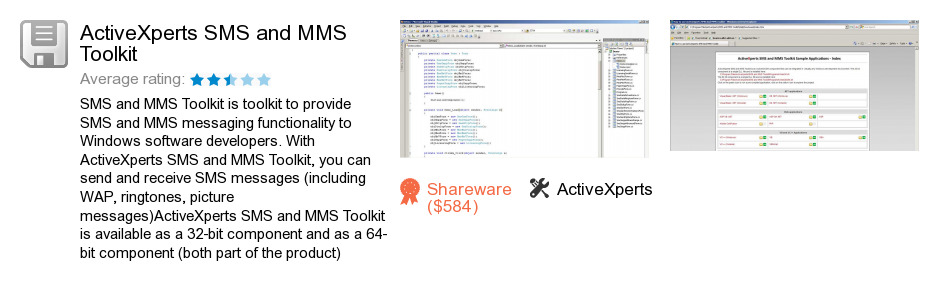 ActiveXperts SMS and MMS Toolkit