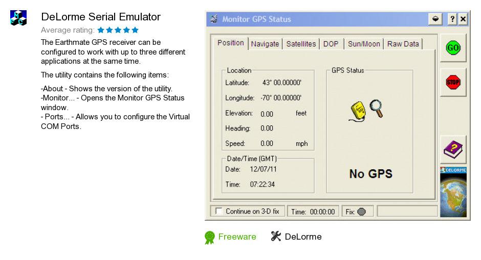 DeLorme Serial Emulator