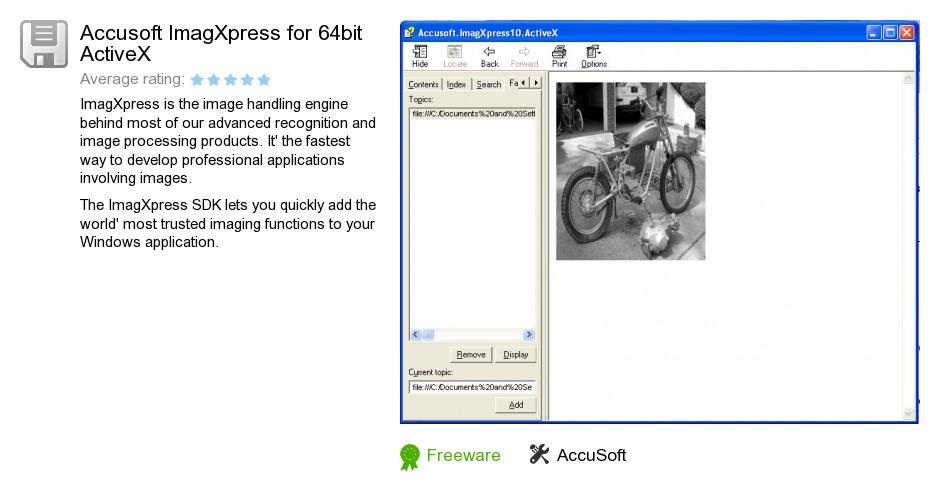 Accusoft ImagXpress for 64bit ActiveX
