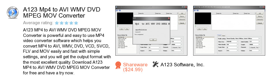 A123 Mp4 to AVI WMV DVD MPEG MOV Converter