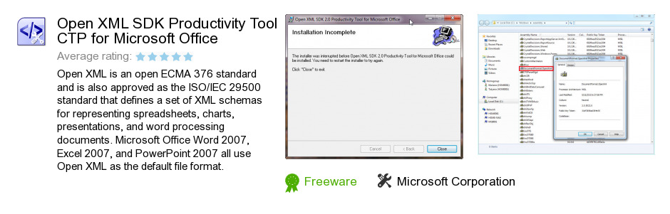 Open XML SDK Productivity Tool CTP for Microsoft Office