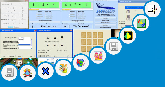 Software collection for Math Trek 123 Game For Kids