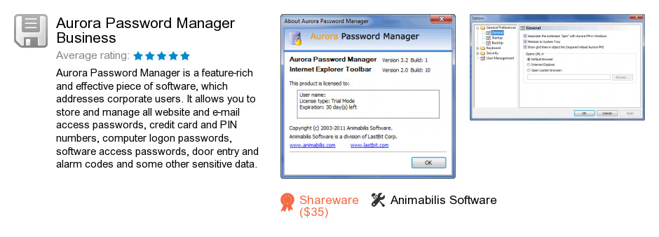 Aurora Password Manager Business