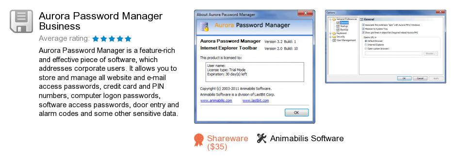 Aurora Password Manager Business