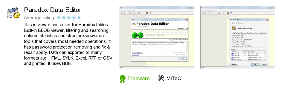 Paradox Data Editor