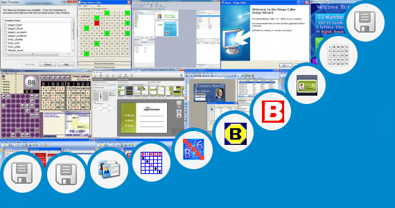 Software collection for Number Bingo Card Creator