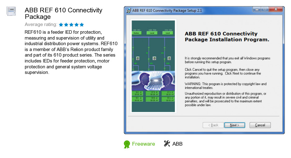 ABB REF 610 Connectivity Package