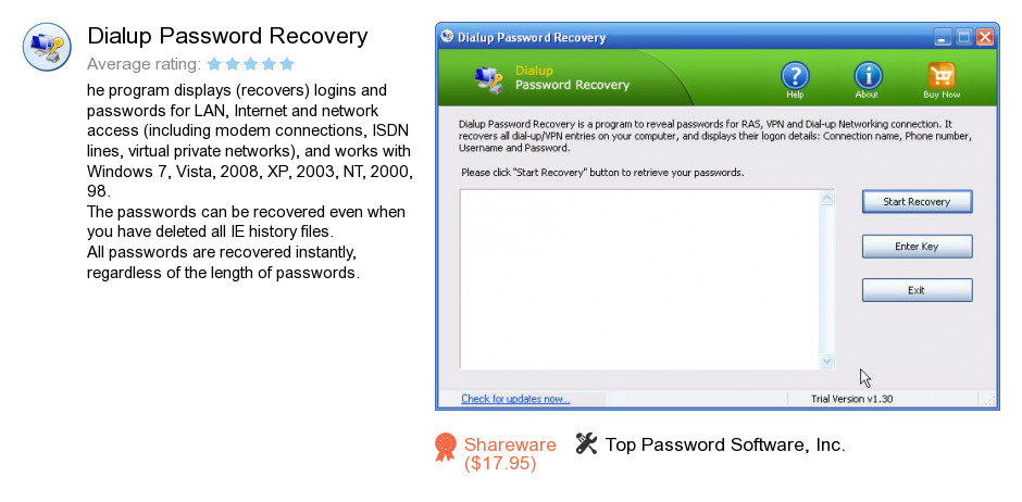 Dialup Password Recovery