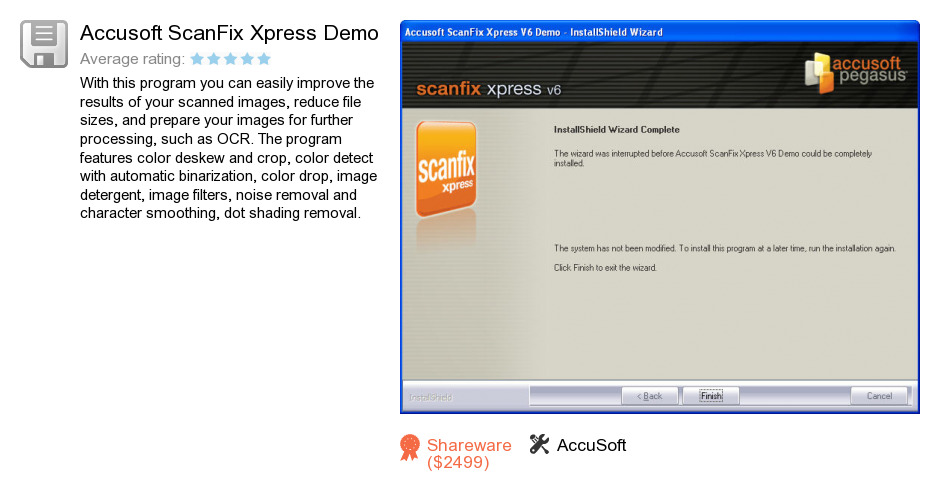 Accusoft ScanFix Xpress Demo