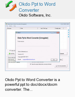 Okdo Ppt to Word Converter