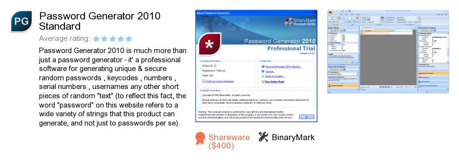 Password Generator 2010 Standard