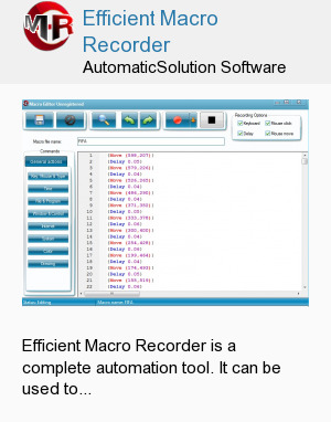 Efficient Macro Recorder